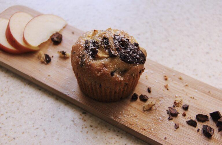 Muffin mela e pepite di cioccolato