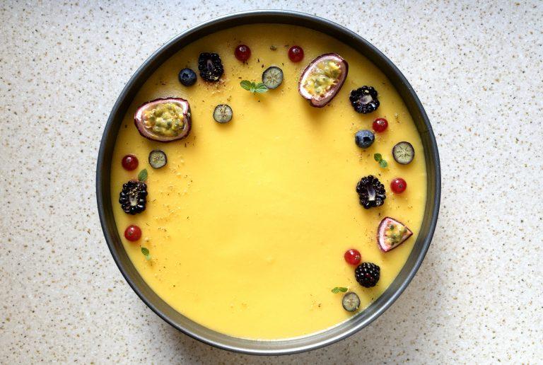 Cheesecake fredda mascarpone e mango