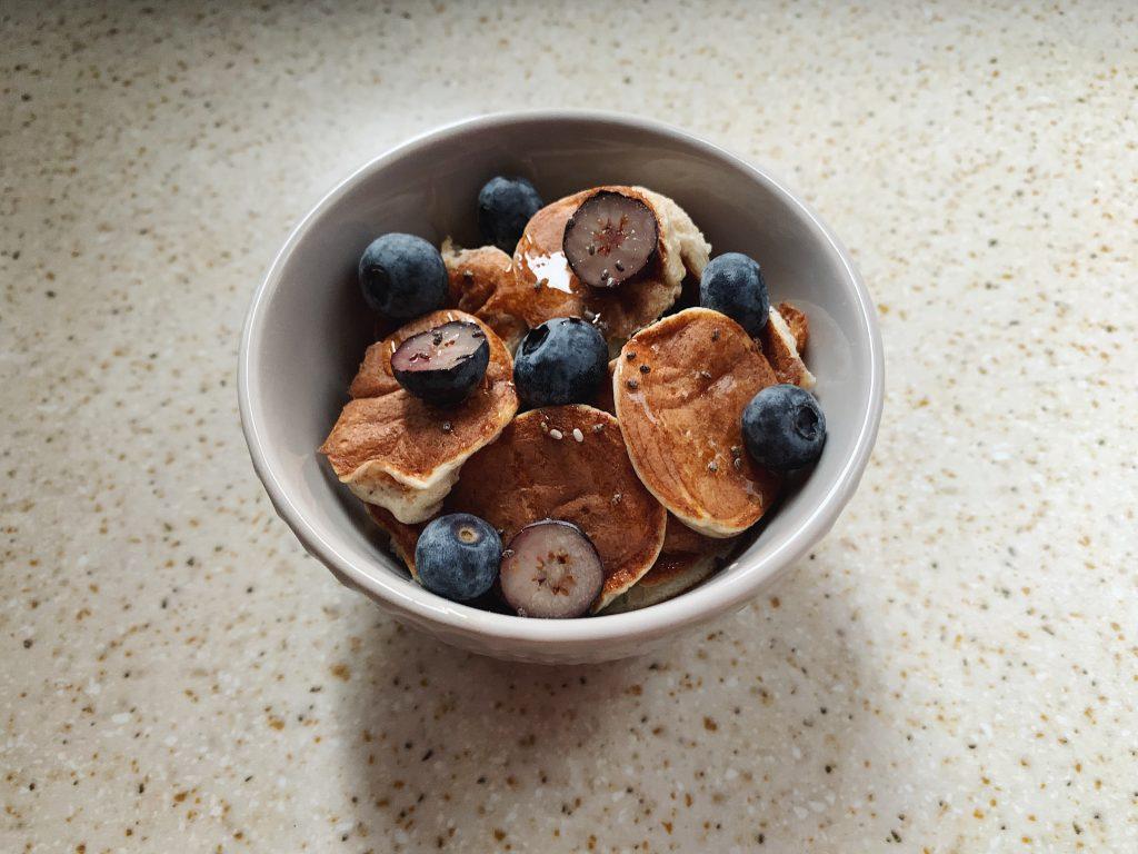 Mini pancake proteici